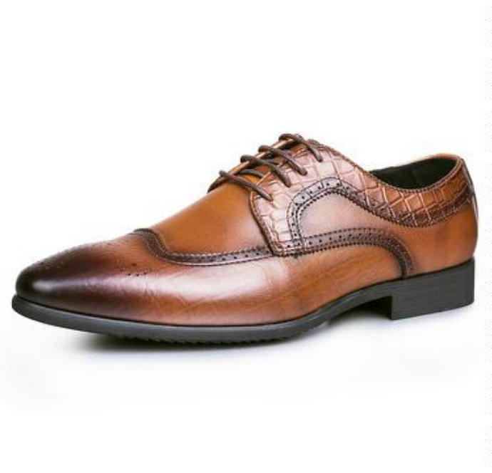 Semi Brogue Alligator Derby