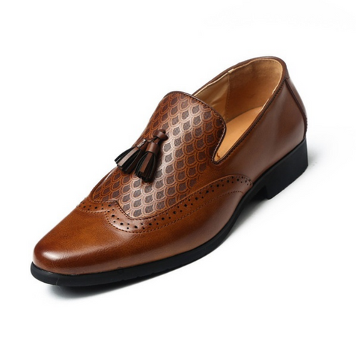 Snake Scale Tassel Loafer