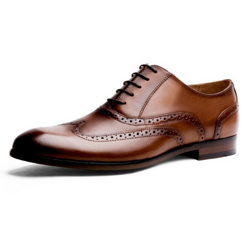 Retro Leather Bullock Oxfords