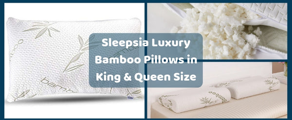 Sleepsia Luxury Bamboo Pillows in King & Queen Size