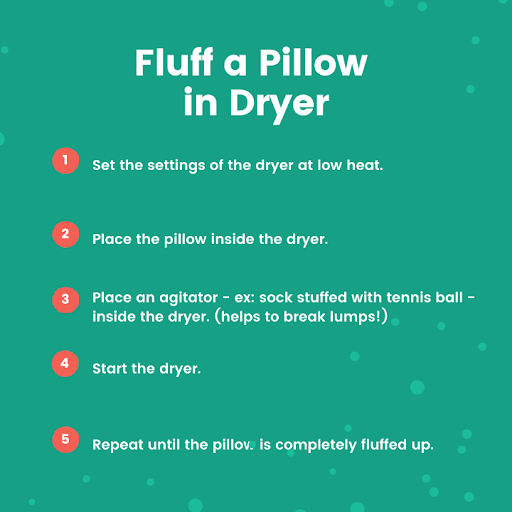 Fluff a Pillow in the Dryer