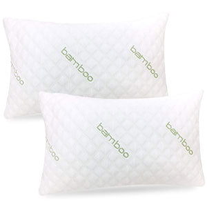 IK Bamboo Pillow (2-Pack) - Shredded Memory Foam Pillow Adjustable