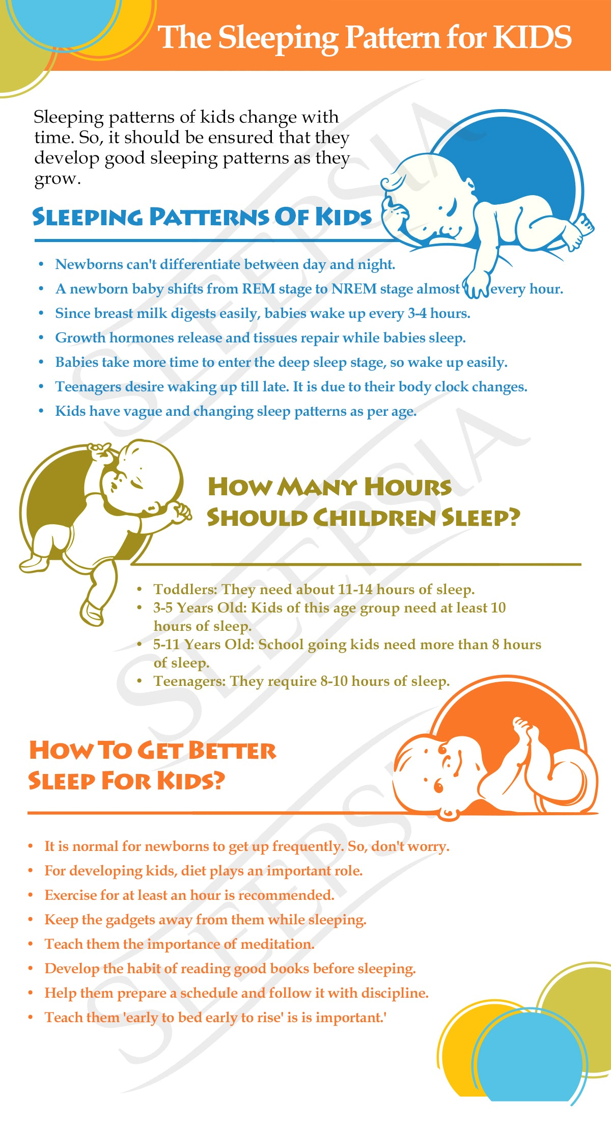 The Sleeping Pattern for KIDS