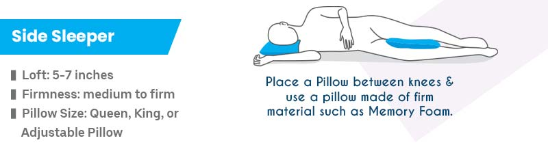 Right Pillow for Side Sleepers