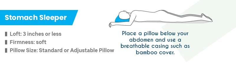 Right Pillow for Stomach Sleepers