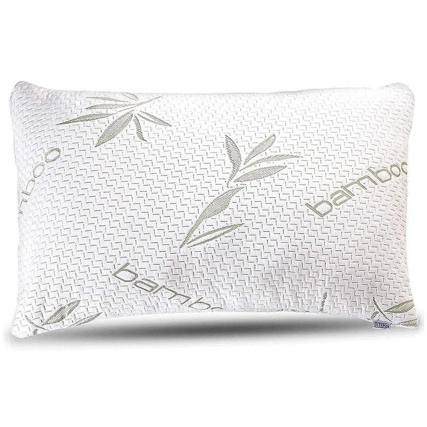 Bamboo Pillow - Shredded Memory Foam Pillow with Washable Pillow Case