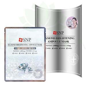 Snp Diamond Brightening Ampoule Mask - 10 - Face Mask