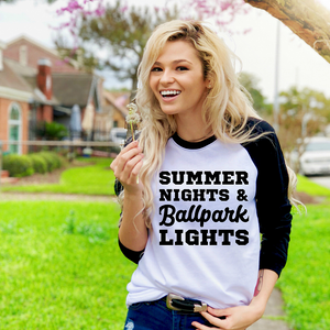 Summer Nights Baseball Tee