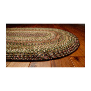 Ultra Durable Braided Rugs Oval Rainforest 5'x8'