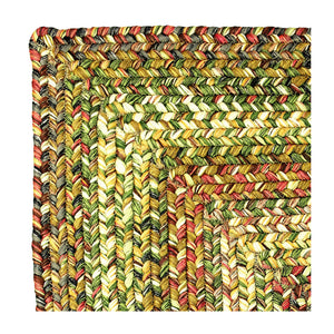 Ultra Durable Braided Rugs Rectangle Rainforest 4'x6'