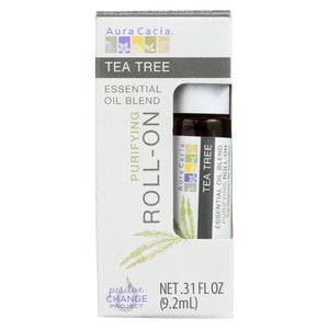 Aura Cacia Tea Tree - Roll On - Oil - Case Of 4 - .31 Fl Oz