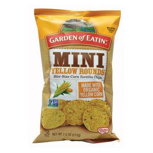 Garden Of Eatin' Mini White Corn Tortilla Rounds - Tortilla Rounds - Case Of 12 - 7.5 Oz.