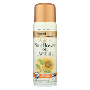 Spectrum Naturals Organic Sunflower Oil Spray - High Heat - Case Of 6 - 5 Oz