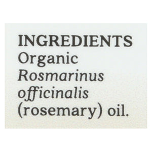 Aura Cacia Essential Oil - Rosemary, Verbenone - Case Of 1 - .25 Fl Oz.