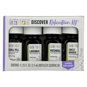 Aura Cacia Essential Oil - Discover Relaxation - Case Of 6 - 1 Kit