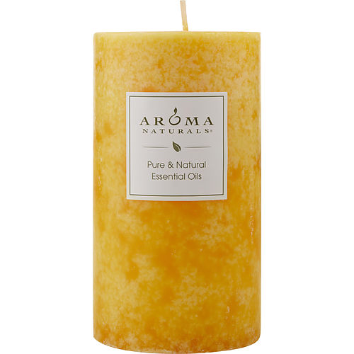 RELAXING AROMATHERAPY by Relaxing Aromatherapy ONE 2.75 X 5 inch PILLAR AROMATHERAPY CANDLE.  COMBINES THE ESSENTIAL OILS OF LAVENDER AND TANGERINE TO CREATE A FRAGRANCE THAT REDUCES STRESS.  BURNS APPROX. 70 HRS