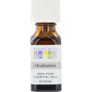 ESSENTIAL OILS AURA CACIA by Aura Cacia MEDITATION-ESSENTIAL OIL .5 OZ