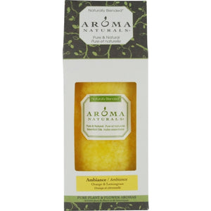 AMBIANCE AROMATHERAPY by Ambiance Aromatherapy ONE 2.75 X 5 inch PILLAR AROMATHERAPY CANDLE.  COMBINES THE ESSENTIAL OILS OF ORANGE & LEMONGRASS.  BURNS APPROX. 70 HRS.