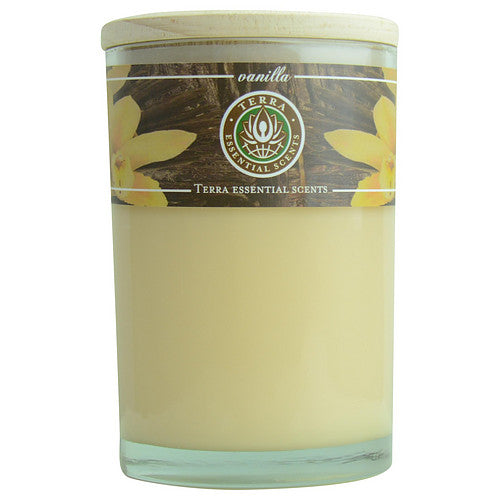Vanilla By  Massage & Aromatherapy Soy Candle 12 Oz Tumbler. A Comforting & Welcoming Blend With Tiger Eye Gemstone. Burns Approx. 30+ Hours