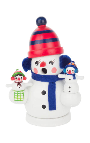 "Alexandor Taron Home Decor Dregeno Snowman Family Incense Burner 3""""h X 2.25""""w X 2""""d"