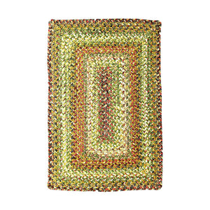 Ultra Durable Braided Rugs Rectangle Rainforest 8'x10'