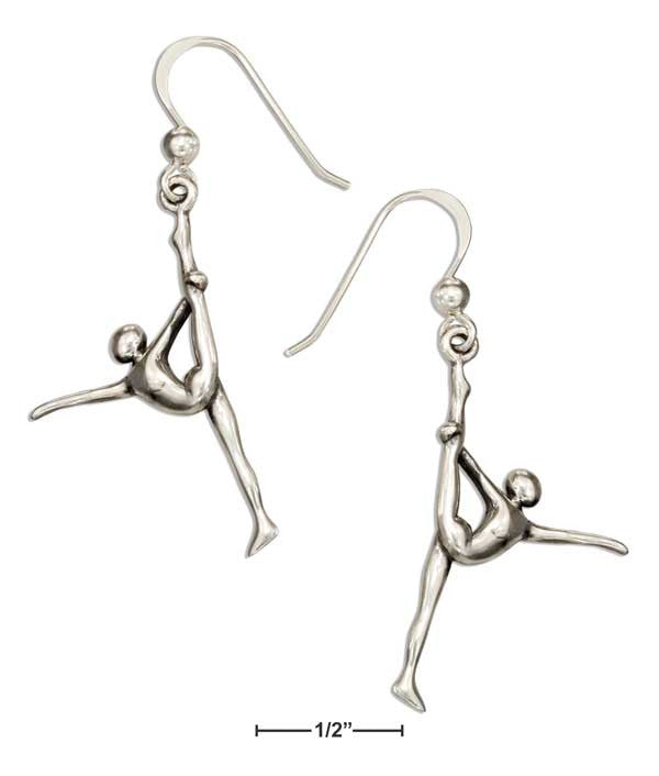 Sterling Silver Standing Dance Yoga Pose Earrings