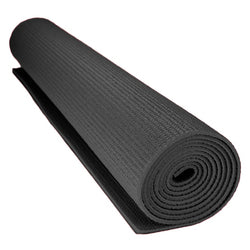 1-8-inch (3mm) Compact Yoga Mat With No-slip Texture - Black