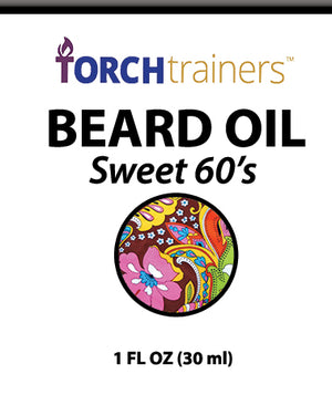 Torch Trainers Beard Oil - Sweet 60's - Case of 24