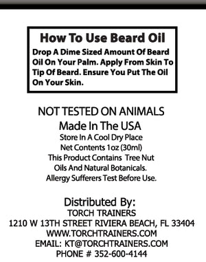 Torch Trainers Beard Oil - Thor's Hammer - Case of 24