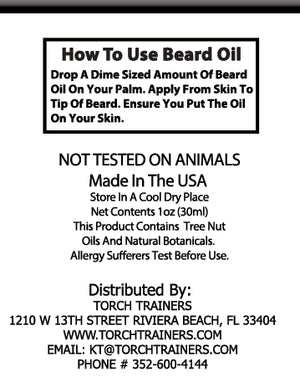 Torch Trainers Beard Oil - Cappuccino - Case of 24