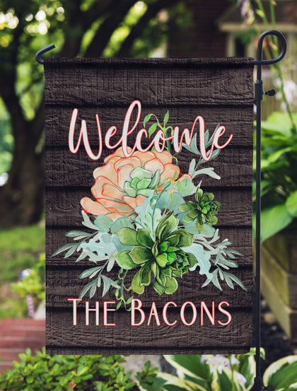Personalized Garden Flag - Succulents