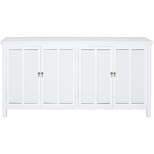Louvre 4 Door Buffet White