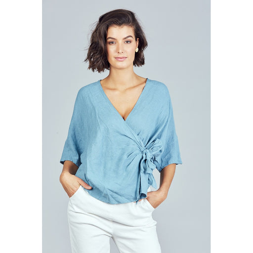 Bergman Wrap Top Blue