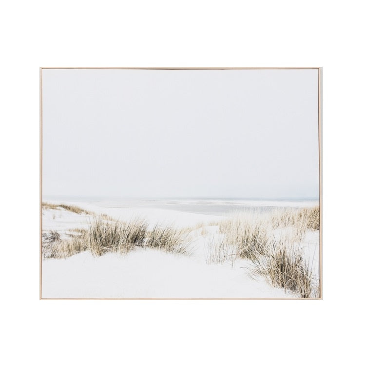 Sand Reed Dunes Framed Canvas