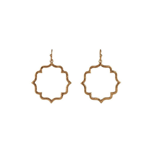 Misty Tile Earrings Gold