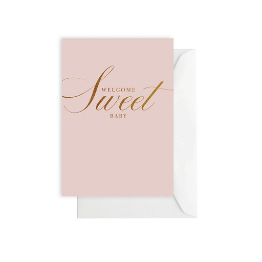 Baby Classic Pink Card