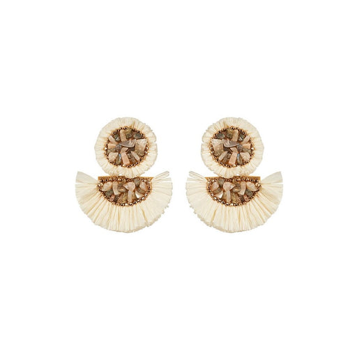 Ava Raffia Earrings