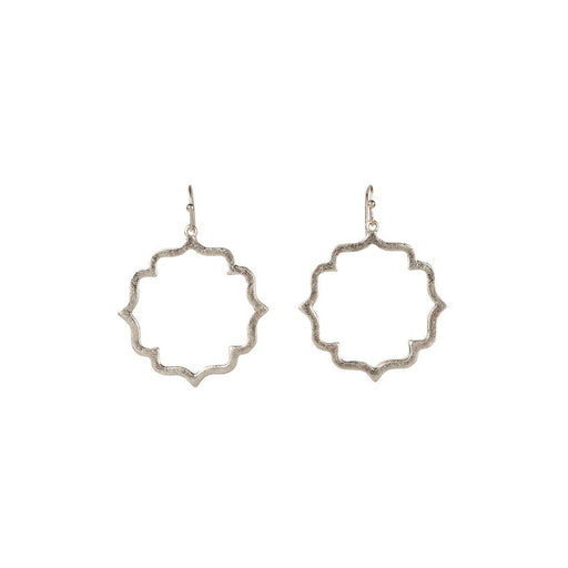 Misty Tile Earrings Silver