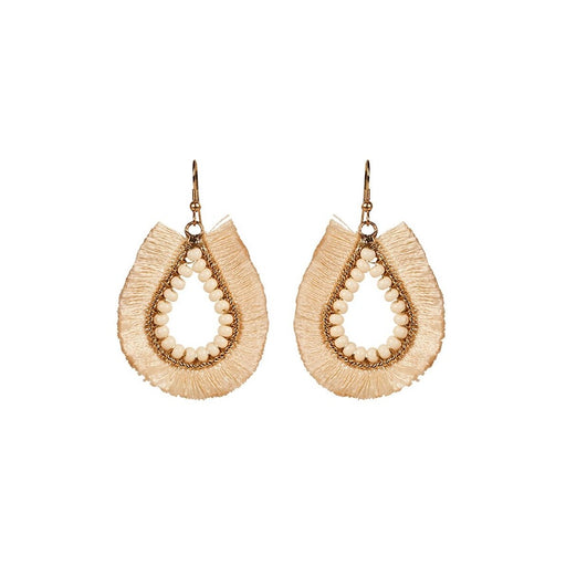 Mae Fringe Earrings Ivory