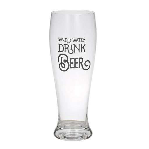 Save Water Beer Glass