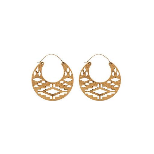 Misty Tribal Earrings Gold