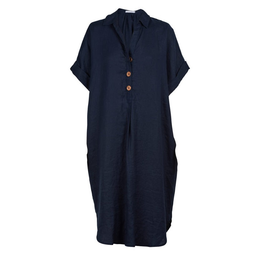 Martinique Shirt Dress Navy