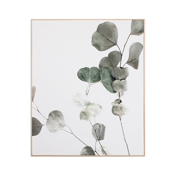 Eucalyptus Branch 1 Framed Canvas