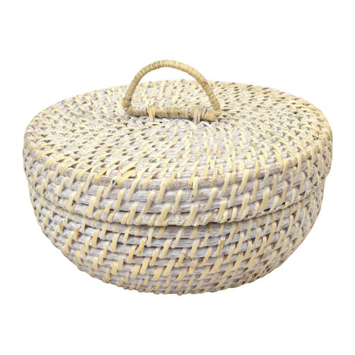 Bay Rattan Trinket Box