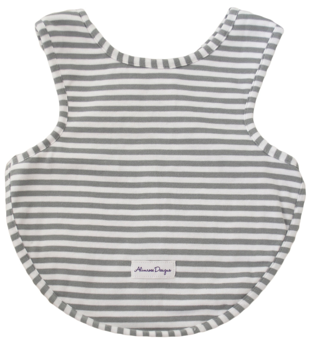 Arm Holes Bib Grey Stripe
