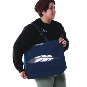 Large Tote Bag Feather