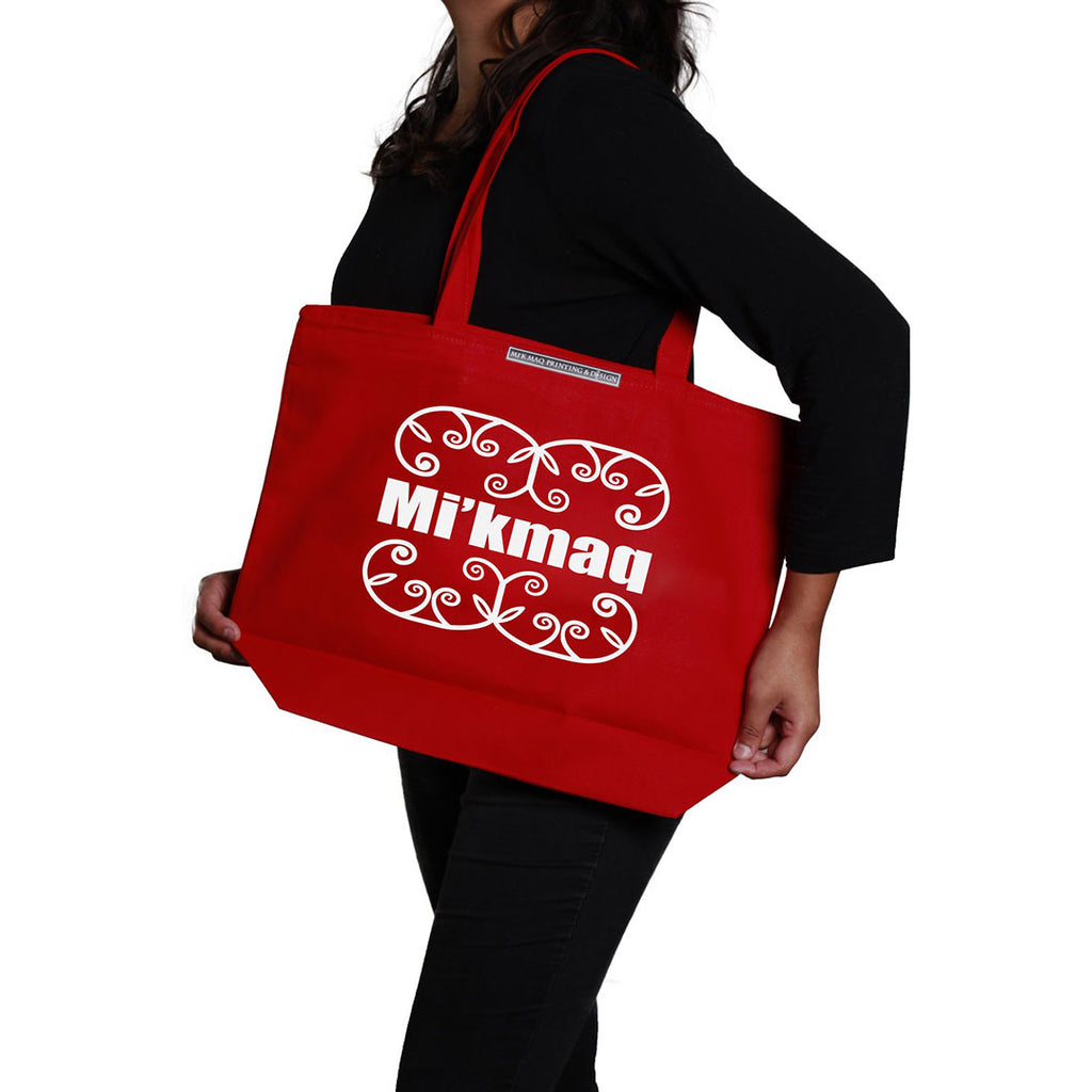 Large Tote Bag Mi'kmaq Double Curve