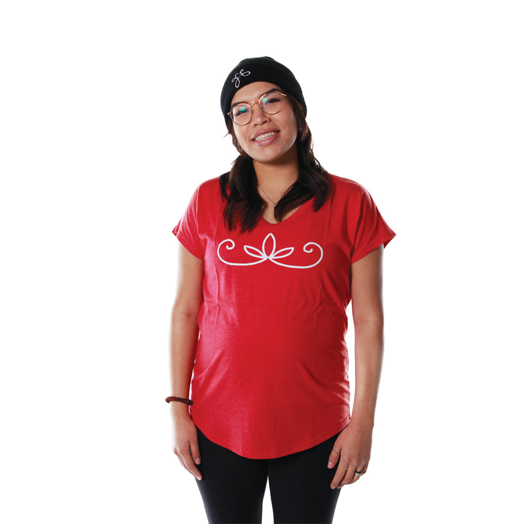 Women's Double Curve V-Neck