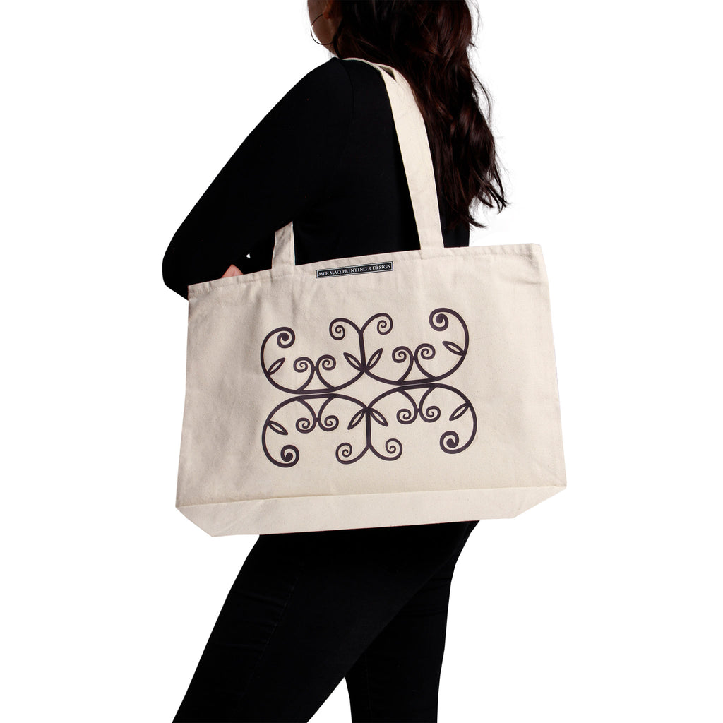 Large Tote Bag Mirror Double Curve