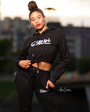 Signature Ladies Crop Sweat Suit